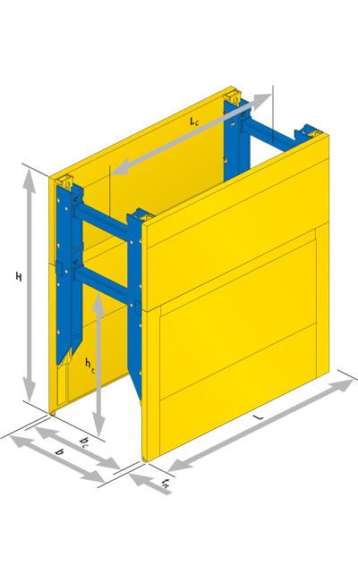 box di blindaggio serie 600 con guide di giunzione